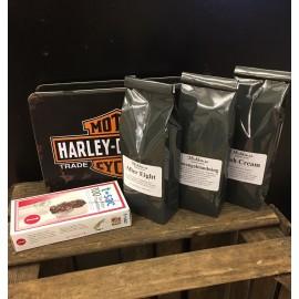 Harley Davidsson med svarta teer och tefilter